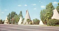 The teepees on Apache Blvd. in Tempe Az