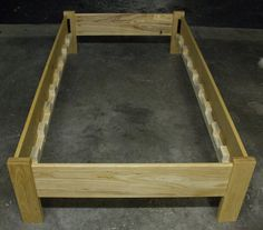 Simple Twin Size Platform Bed Frame by MountainMuleHardwood