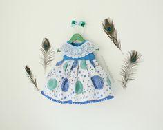 Sukienka + opaska dziecięca Dmuchawce - Monika_Magdalena - Sukienki dla niemowląt