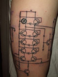 Moog Filter Circuit Tattoo. WANT