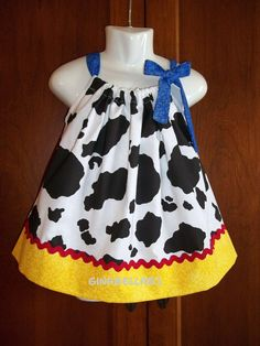 cowgirl Barnyard outfit Toy Story Disney jessie inspired dress baby girl 1st first Birthday party size 3 6 9 12 18 2t 3t 4t 5t pillowcase