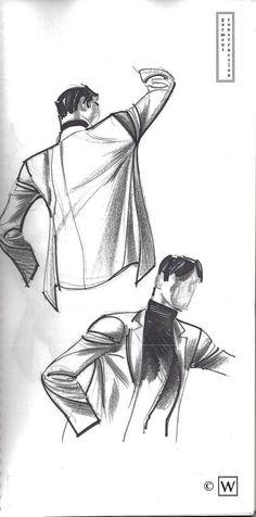 Garment Construction - Jacket & Pants by John Watkiss ✤ || CHARACTER DESIGN REFERENCES | キャラクターデザイン | çizgi film • Find more at https://www.facebook.com/CharacterDesignReferences & http://www.pinterest.com/characterdesigh if you're looking for: bandes dessinées, dessin animé #animation #banda #desenhada #toons #manga #BD #historieta #sketch #how #to #draw #strip #fumetto #settei #fumetti #manhwa #anime #cartoni #animati #comics #cartoon || ✤