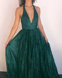 homecoming dress Lace - V-neck Long A-line Green Sequin Prom Dresses, Sparkle Prom Dresses, Popular Prom Dresses Dark Green Prom Dresses, Sequin Prom Dresses, V Neck Prom Dresses, Elegant Prom Dresses, Sequin Dress, Pretty Dresses, Homecoming Dresses, Sexy Dresses, Evening Dresses