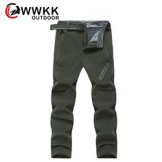 Men Soft shell Outdoor Pants Waterproof Breathable Hiking Outdoor Trousers boys