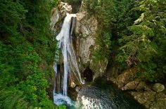 Twin Falls Trail is a 3 mile out and back trail located near North Bend, Washington that features a waterfall and is good for all skill levels.