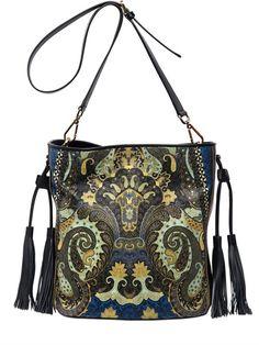 Printed ETRO bag in nappa leather - LUISAVIAROMA - worldwide shipping