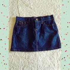 Women's blue jean skirt Ultra low cut women's blue jean skirt. Size 2. Like new condition. Old Navy Skirts Mini