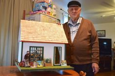 Roger Moore has been building dollhouses for 20 years, creating scale model recreations of gas stations, restaurants and now the famous Maud Lewis house. Secret Life Of Rabbits, Maud Lewis, Private Foundation, Roger Moore, Truro, Country Art, Small World, 20 Years, Scale Models