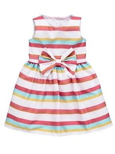 Girls Stripe Bow Dress, http://www.littlewoods.com/ladybird-girls-stripe-bow-dress/1383602779.prd