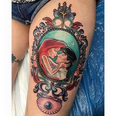 This is a cute idea for my Ariel tattoo