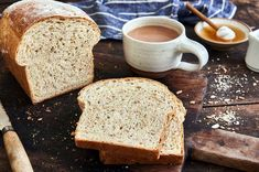Browse these King Arthur Flour recipes for ideas, inspiration and practical tips. 100 Whole Wheat Bread, Whole Wheat Sourdough, Sourdough Bread, Sandwich Bread Recipes, Sandwich Loaf, Bread Improver, Wheat Bread Recipe, Sweet Butter, Pizza