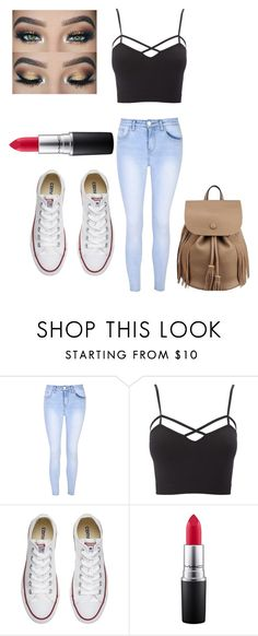 """""""Untitled #35"""" by ariauna-smith on Polyvore featuring Glamorous, Charlotte Russe, Converse, MAC Cosmetics and plus size clothing"""