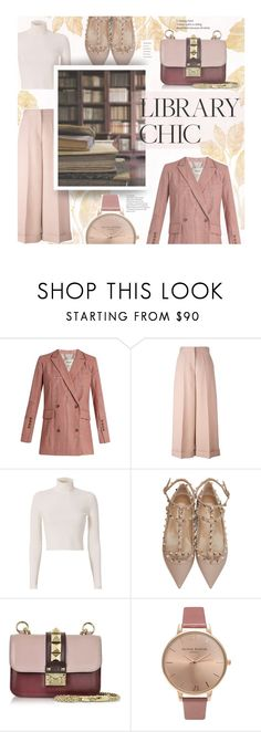 """Work Hard, Play Hard: Finals Season"" by mfardilha ❤ liked on Polyvore featuring Rachel Comey, Valentino, A.L.C., Olivia Burton, Pink, flats, nude, finals and thetrendtherapy"