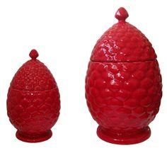 Pinha vermelha -  Bordalo Pinheiro