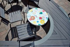 In the heart of Helsinki, the World Design Capital a terrace cafeteria received a new look with unique terrace furniture made from Stone Grey UPM ProFi Deck. Composite Decking, Grey Stone, Helsinki, Will Smith, Furniture Making, Terrace, Restaurants, Hotels, Home Appliances