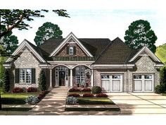 Ranch House Plan HomePlan with 2492 Square Feet and 3 Bedrooms from Dream Home Source   House Plan Code DHSW077913