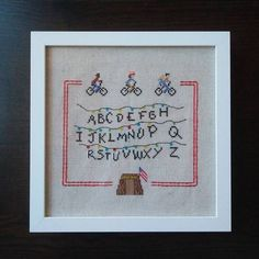 Craftster Pick of the Month RandomlyGenerateds Stranger Things Cross Stitch