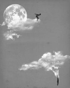 Moon fall.