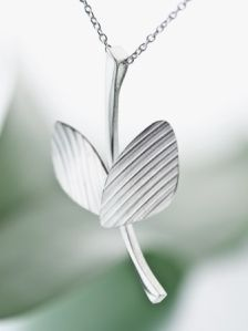 The Wings of Wind necklace.  Designed by Heli Kauhanen Material:silver 925