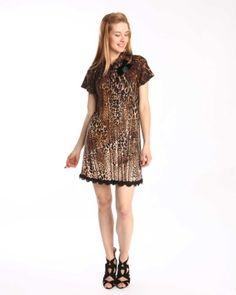 Designer : DRESSES OUTLET - BROWN ANIMAL PRINTED DRESS - $29 Today on Mynetsale.com.au!