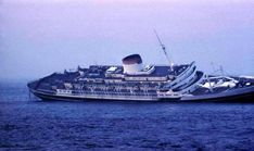 Andrea Doria , became the first passenger ship to sink on television.