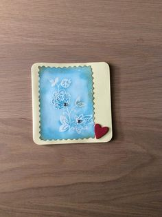 Card with distress techniques and embossing