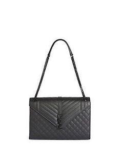 Saint Laurent Monogram Large Quilted Leather Shoulder Bag. J Dancer ·  Handbag Junkie 2c1fb80b4355e