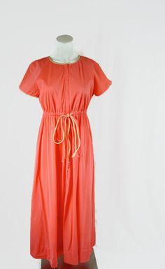 Vintage Vanity Fair House Robe Dress Night Gown 1960s by ANTIGOs