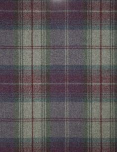 Woodford Plaid Wool tartan fabric in mauve, green and beige More