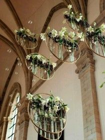 The flower arrangements for church wedding planning process you'll want to be well aware of how rapidly costs accumulate. Ikebana, Deco Floral, Floral Design, Lustre Floral, Floral Wedding, Wedding Flowers, Trendy Wedding, Perfect Wedding, Church Wedding Decorations