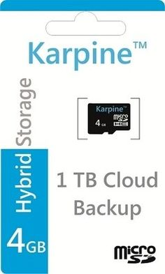 Buy Karpine MicroSDHC 4 GB Class 4 Online at Best Offer Prices @ Rs. 199/- In India. Only Genuine Products. 30 Day Replacement Guarantee. Cash On Delivery!