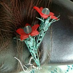 Check out this item in my Etsy shop https://www.etsy.com/listing/286691733/flower-cone-earrings