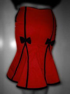 Sweetheart Kicks fishtail skirt by Dollchops on Etsy, £65.00