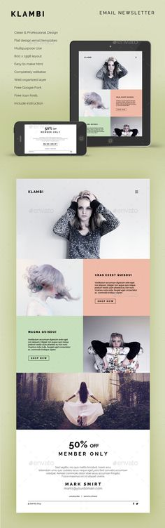Email Newsletter Klambi - E-newsletters Web Elements