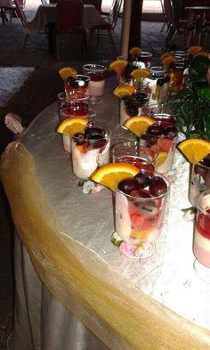 Fruit in een glaasje