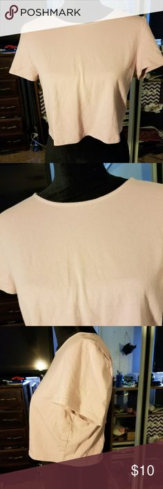 """Charlotte Russe Criss Cross Crop Top Charlotte Russe Criss Cross Back Crop Top Size XL New without tags ! Never been worn. In excellent condition Armpit to armpit is 17"""" Shoulder to hem is 16"""" Charlotte Russe Tops Crop Tops"""