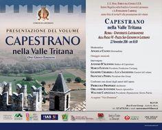 All'Università Lateranense presentazione del volume «Capestrano nella Valle Tritana»