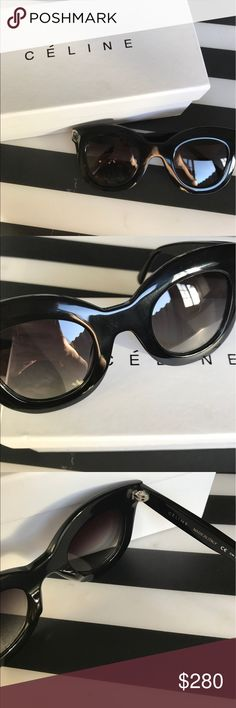 😎New Celine Black sunglasses Brand new with box big frame sunglasses by Celine. No flaw perfect condition. Celebrity style. Super cool and stylish. ❤️include some: box and cloth NO case. 🍭Reasonable offers welcome🍭 Price lower on Ⓜ️ Celine Accessories Sunglasses
