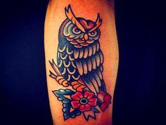 Resultado de imagen para tattoo lechuza color