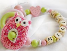 Baby Rattle / teether personalized with от HoldersRattlesnmore, $18.90