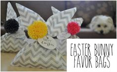 Arty's Getaway: Paper Crafts // Check out this Easy Breezy DIY - the Easter Bunny Favor Bags.