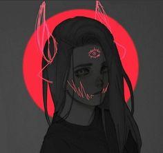 The edge peace drawing, female reference, art reference, evil girl, art text Aesthetic Anime, Aesthetic Art, Anime Kunst, Anime Art, Peace Drawing, Vent Art, Image Manga, Arte Horror, Dark Art
