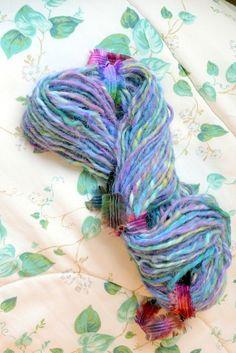 Handspun Art Yarn / Vegan / Lavender Lake / Handmade by Dreamfiber, $35.00