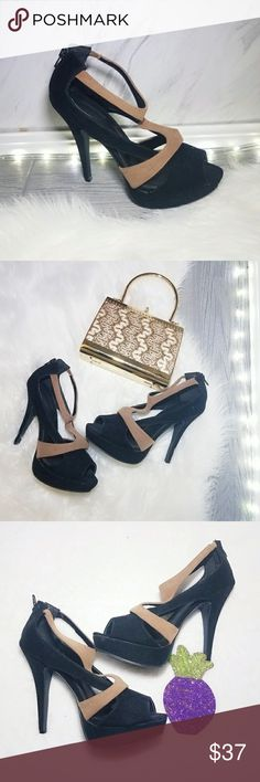 Black Cream Heels Pumps Size 8 Stiletto Shoes Hotter than ever this season! A dose of chicness to your everyday wardrobe. Comfortable go with just about everything. Super easy to dress them up or down. Absolutely stunning   . Size 8  . Condition Like New  . Color Black tan  . Bundle & SAVE 25% off 🍍  . Reasonable offers welcome😃  No additional shipping charge when you purchase more from my closet   Every purchase will be packed with Care & a Special FREE GIFT 🎁    25% OFF on bundles…