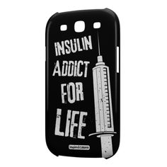 Give your Galaxy S3 cell phone a unique style all its own. This Insulin Addict for Life case was professionally created and printed in the United States to help raise awareness. A portion of all proceeds will be donated to help raise awareness for selected causes. Textured printing raises parts of the images, creating a unique feel like no other case!  The case features high-quality, original design and images that not only set you apart, but keep your device protected - making it the…