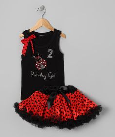 Black 2 Birthday Tank & Pettiskirt - Toddler & Girls