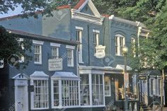 Image result for historic storefronts Garden Art, Home And Garden, Store Fronts, Architecture Design, House Design, Mansions, Diy Food, House Styles, Barns