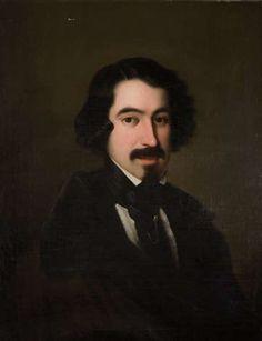 José de Espronceda (1808-1848). Retratado por Antonio María Esquivel.