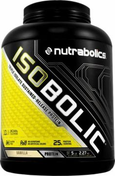 Nutrabolics IsoBolic Vanilla 5 Lbs. NBOL4230134 Vanilla - Contains CFM Whey Isolate, Micellar Casein And Egg Isolate!