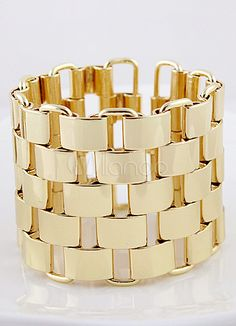 Checkerboard Golden Cuff Bracelet - Latest Jewelry Fashion Items | Fashionable Housewives of USA